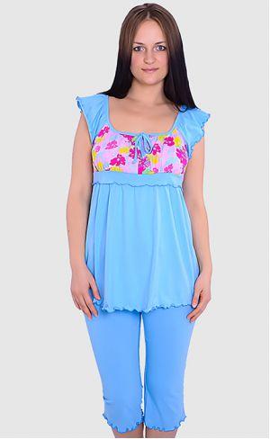 Пижама с шортами для беременных л044